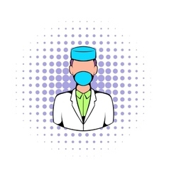 Doctor icon comics style vector image
