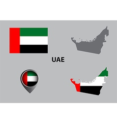 Map of United Arab Emirates and symbol vector image