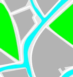 Map - Seamless Pattern Green Park Blue River White vector image
