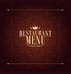 restaurant menu design vintage card vector image