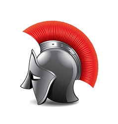 roman helmet isolated vector image vector image