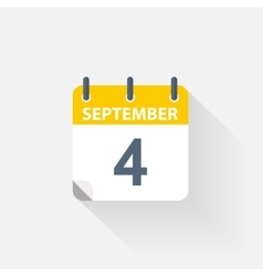 4 september calendar icon vector
