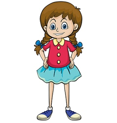 A smiling girl vector image