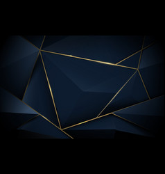Abstract 3d polygonal pattern luxury background vector