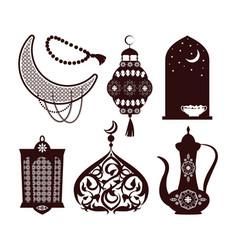 Arabian culture concepts set vector