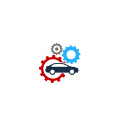 automotive fix and repair logo icon design vector image