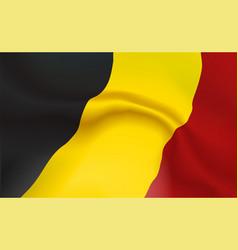 Background germans flag in folds tricolour frg vector