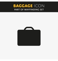 Baggage icon vector