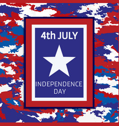 Banner camouflage independence day of america vector