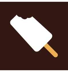 Bitten Ice-cream vector