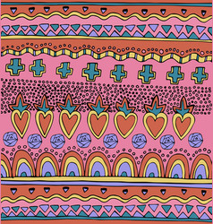 bright colorful mexican seamless pattern vector image