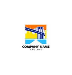 Brooklyn bridge logo vector