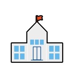Builgind school education icon graphic vector