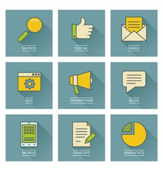 Business infographics icons Social media concept vector image