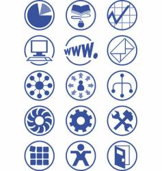 business services icons vector image vector image
