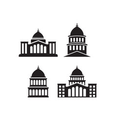 capitol icon design set bundle template isolated vector image