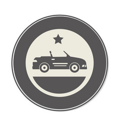 car sport vehicle icon vector image