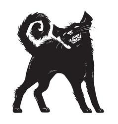 Cartoon black cat halloween character vector