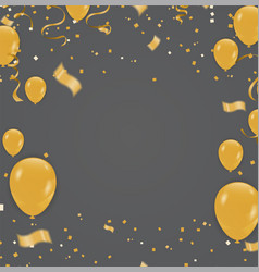 Celebration party banner with golden balloons and vector
