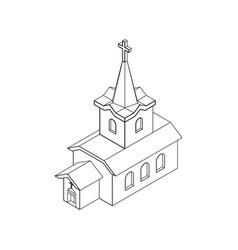 church isometrics linear style catholic christian vector image