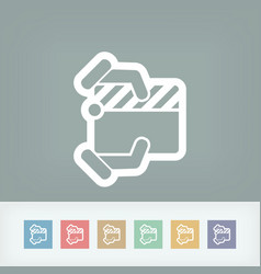 clapboard concept icon vector image