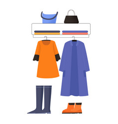 Clothing stop display vector