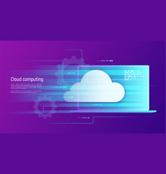 Cloud computing storage hosting services vector