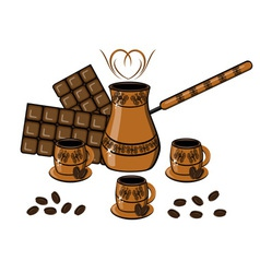 coffee chocolate drinks vector image