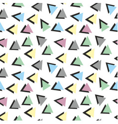 colorful abstract pattern with triangles vector image