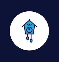 cuckoo clock icon sign symbol vector image