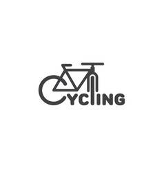 cycling logo vector image