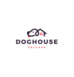 dog house home logo icon vector image