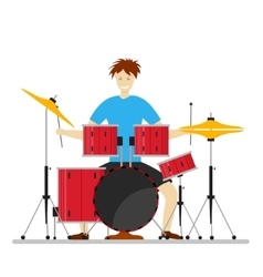 Drum Player Man vector