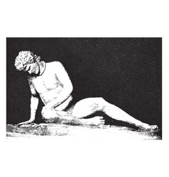 Dying gaul is an ancient roman marble copy of a vector
