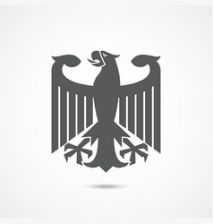 eagle coat arms germany vector image