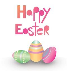 Easter card design vector