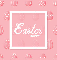 easter eggs are pink vector image