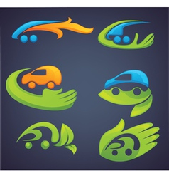 ecological transport cars and transport vector image