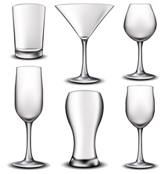 Empty glass set vector