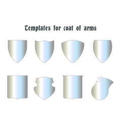 Escutcheons for coat of arms set vector