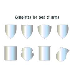 Escutcheons for coat of arms set vector image