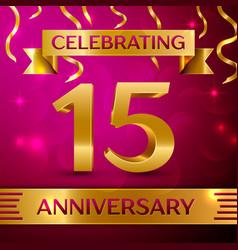 Fifteen years anniversary celebration design vector