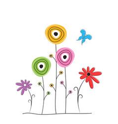 flowers in scandinavian style vector image