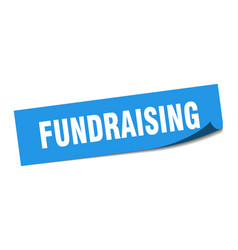 Fundraising sticker fundraising square sign vector