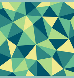 green and yellow polygon mosaic pattern background vector image