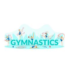 gymnastics banner template flexible professional vector image