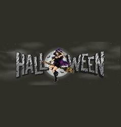 Halloween colorful vintage concept vector