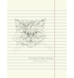 Hand drawing sketch cat vector image