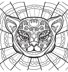 hand drawn in entangle style vector image