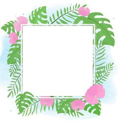 hand drawn summer tropical flower botanical flat vector image